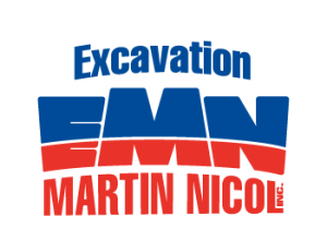 Logo de l'entreprise Excavation Martin Nicol Inc. Service d'excavation et déneigement en Abitibi